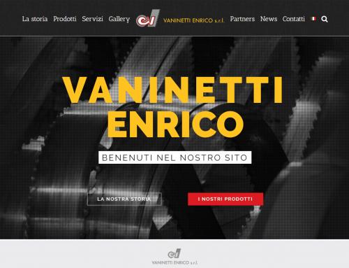 Vaninetti Enrico SRL – new site