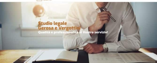 Sito Studio legale Associato Gerosa e Vergottini