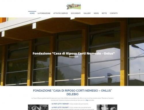 """Fondazione """"Casa di Riposo Corti Nemesio – ONLUS""""– new site"""