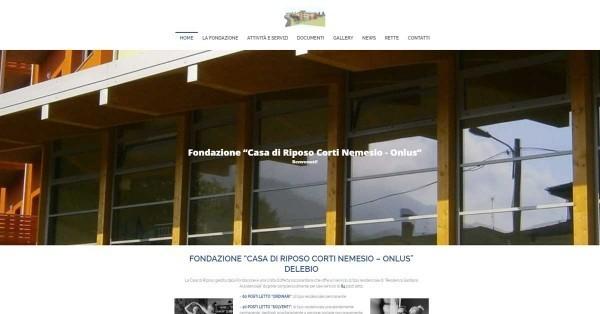 """Sito Fondazione """"Casa di Riposo Corti Nemesio - ONLUS"""""""